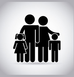 Traditional family design vector
