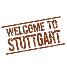 Welcome to stuttgart stamp vector