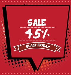 Black friday pop art vector