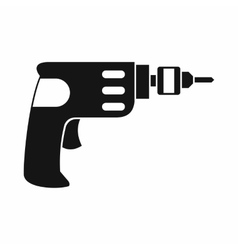 Hand drill icon simple style vector