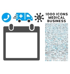 Calendar frame icon with 1000 medical business vector