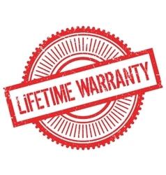 Lifetime warranty stamp vector image