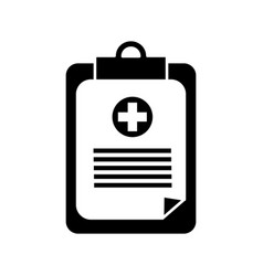 Contour hospital prescription pad icon vector