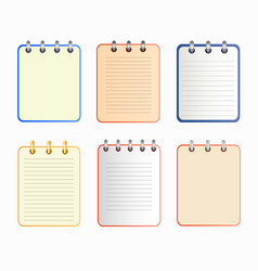 icon of notebook in six variants vector image