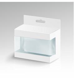 White blank cardboard rectangle  3d empty vector