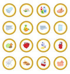 Supermarket icon circle vector