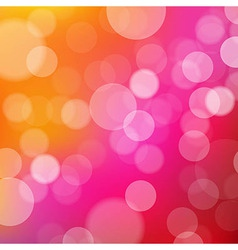 Lights Orange And Pink Background With Bokeh vector image