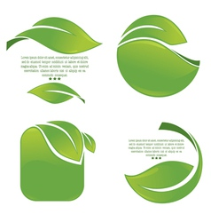 Green leaves frames vector