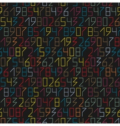 Numbers seamless vector