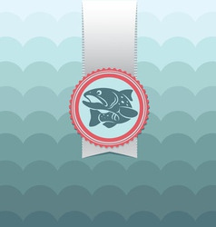 card trout vector image