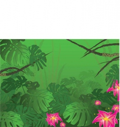 Tropical jungle bush nature vector