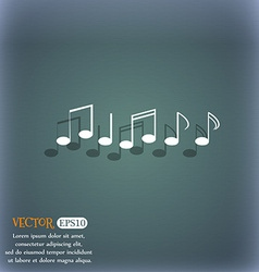 Music note sign icon musical symbol on the vector
