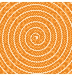 Abstract orange spiral pattern vector