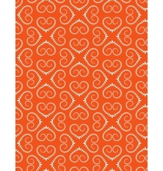 Seamless heart pattern Vintage swirl twist vector image