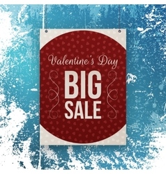 Valentines day big sale red banner template vector