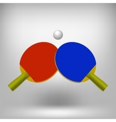 Two ping pong rackets vector