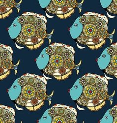 Patterns fish background vector
