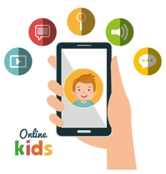Online kids design vector