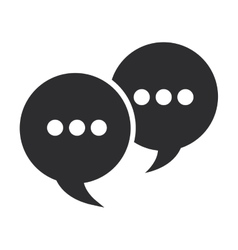 Conversation bubbles with dots icon vector