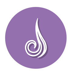 abstract line air symbol on a circle vector image vector image