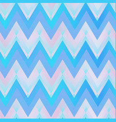 blue color zigzag seamless pattern vector image