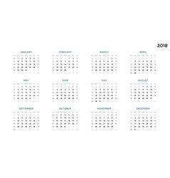 Calendar infographic table chart presentation vector