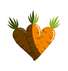 Carrots vegetable icon image vector