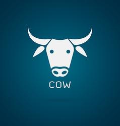 Cow head design vector