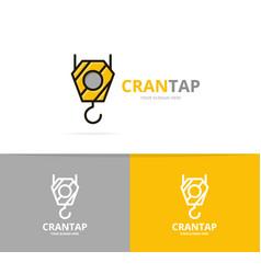 crane hook logo design template vector image