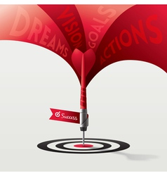 Dart target success business concept vector