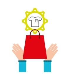 E-commerce business tshirt money design icon vector