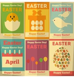 Easter posters vector