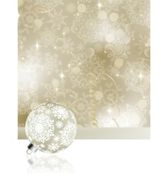 elegant christmas background with baubles eps 8 vector image