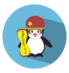 Flat penguin2 vector