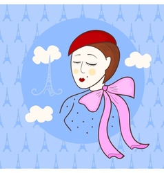French beautiful girl vector image