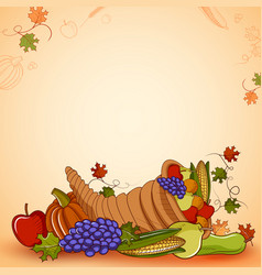 Happy thanksgiving holiday festival background vector