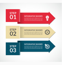 infographic arrows 3 steps design template vector image vector image