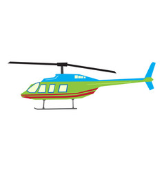 Isolated geometric helicopter toy vector
