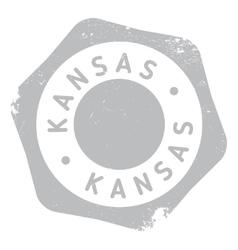 Kansas stamp rubber grunge vector