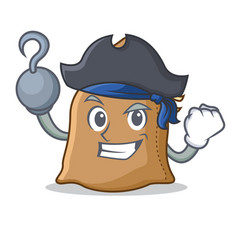 Pirate sack character cartoon style vector