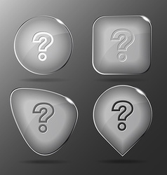 Query glass buttons vector