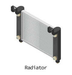 Radiator car icon isometric 3d style vector