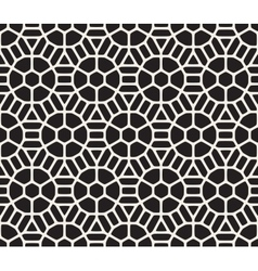 Seamless Black And White Geometric Hexagon vector image