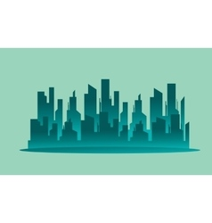 Silhouette beautiful city landscape vector