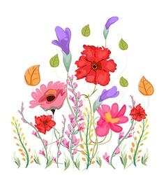Sweet pea flowers watercolor vector
