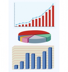 Types of business diagram vector