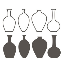 Vase Outline Silhouette vector image