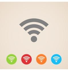 wireless network icon vector image
