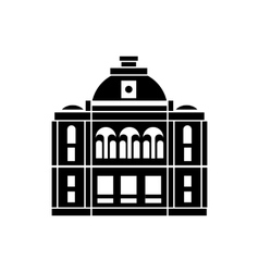 The building with the dome icon simple style vector