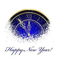 new year snow clock vector image